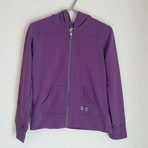 Purple Under Armour All Season Gear Hoodie YMD
